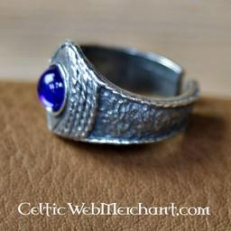 Średniowieczny pierścień cyny, niebieski
