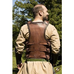 Early Medieval lamellar armour, brown