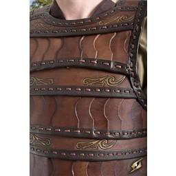 Tidig medeltida lamellär rustningar, brun