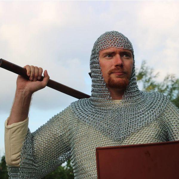 House of Warfare Haubergeon di maglia, maniche di media lunghezza, zincato 10 mm