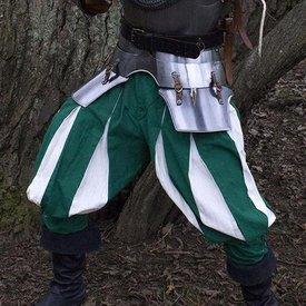 Landsknecht bukser, grøn-hvid
