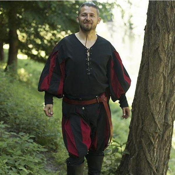Epic Armoury Pantaloni Landsknecht rosso-nero