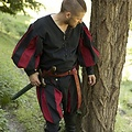 Epic Armoury Pantalones Landsknecht rojo-negro