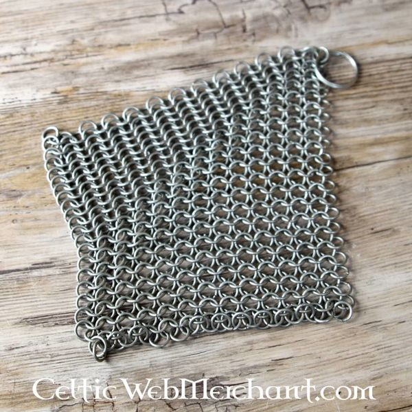 House of Warfare Chain mail scrubber small for pans and grills (historical and modern)