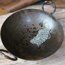 Ulfberth Cofia con cuello cuadrado, anillos planos - remaches redondos, 8 mm