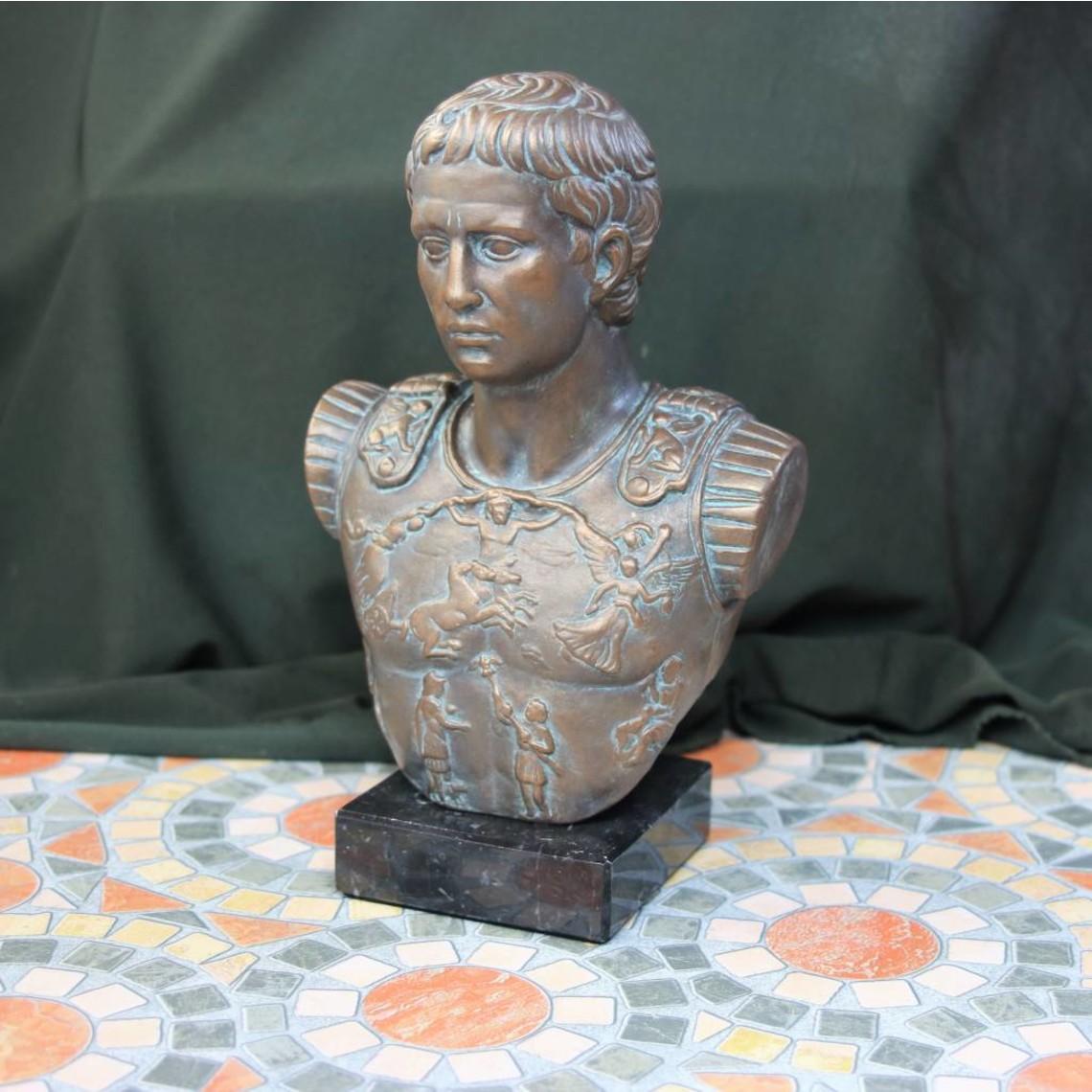 Bronzed buste kejser Augustus