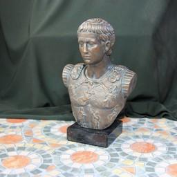 Bronzed bust emperor Augustus