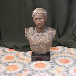 Bronzierte Büste Kaiser Augustus