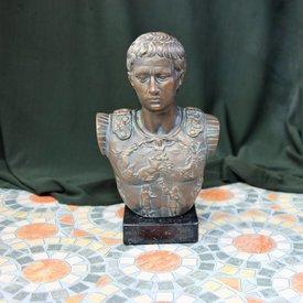 Bronceada busto emperador Augusto