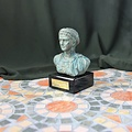 Bronzed buste empereur Tibère