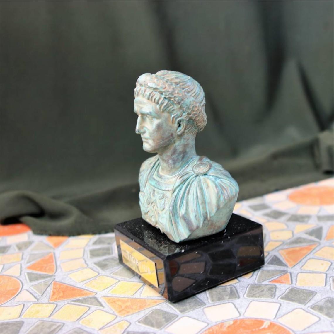 Bronzed bust emperor Tiberius