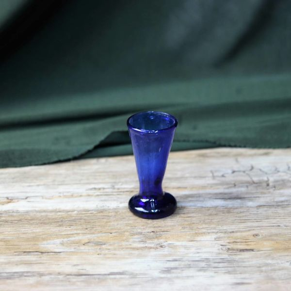 Schnapps glass blue