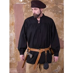 Camisa renacentista Störtebecker, negro