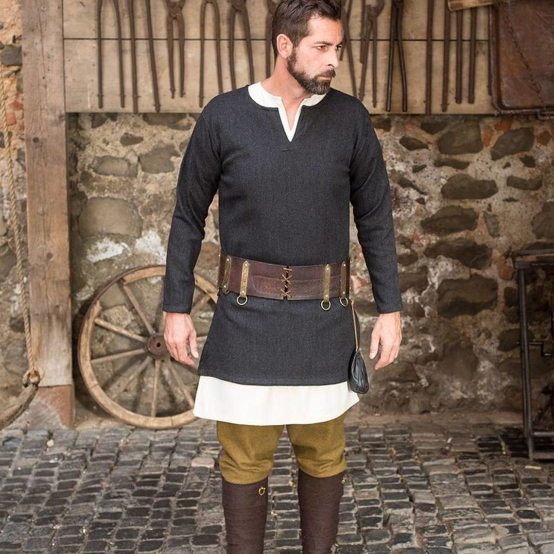 Burgschneider túnica de espina de pescado Tyr, negro