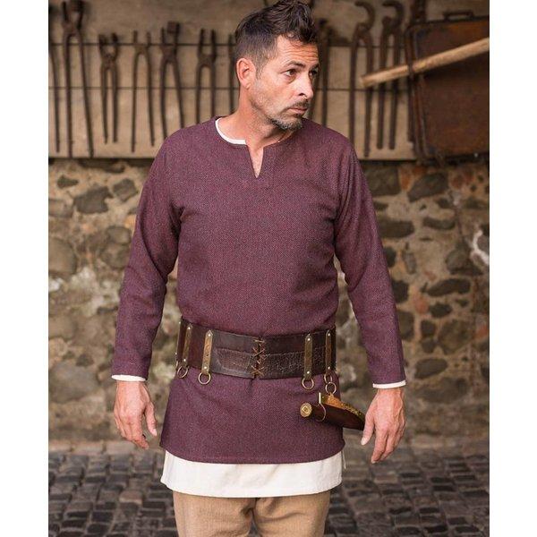 Burgschneider Herringbone tunic Tyr, burgundy grey