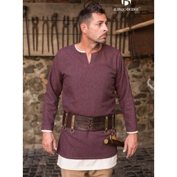 Herringbone tunic Tyr, burgundy grey
