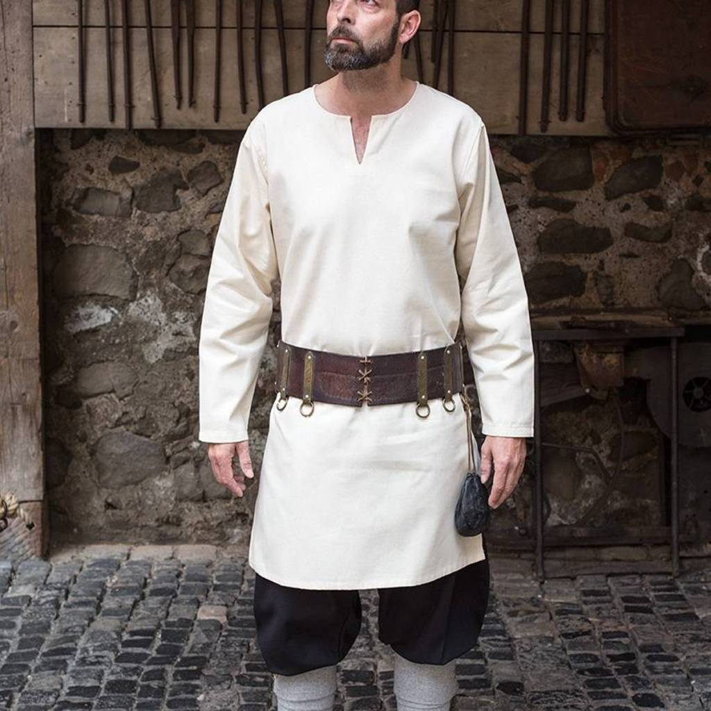 Leif túnica, blanca - CelticWebMerchant.com