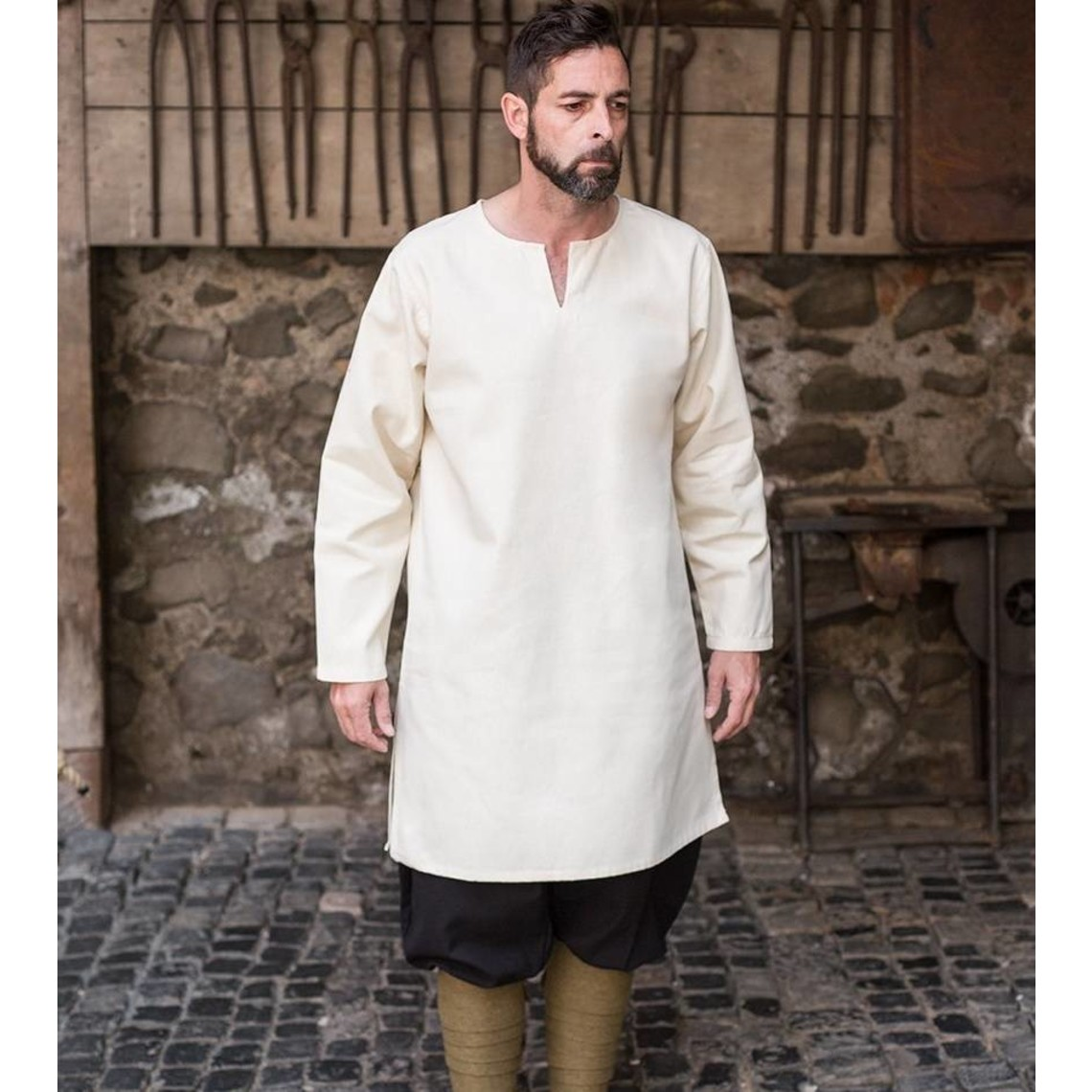 Burgschneider Leif túnica, blanca