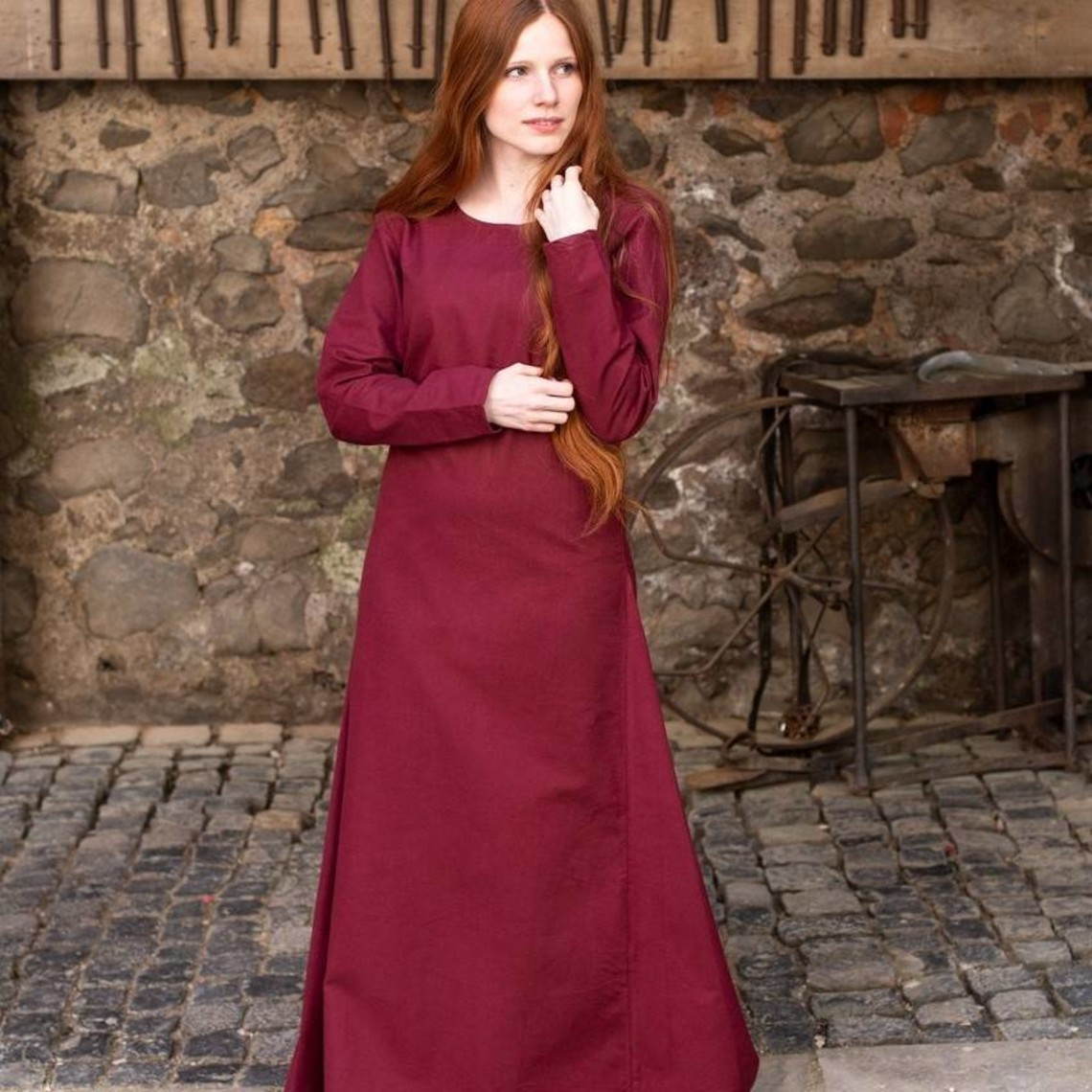 Burgschneider Vestido medieval Freya (burdeos)