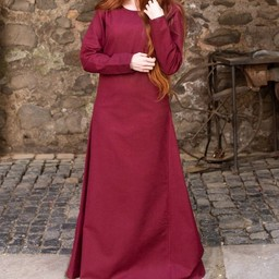 Medieval dress Freya (burgundy)