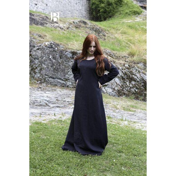 Burgschneider Middeleeuwse jurk Freya (zwart)