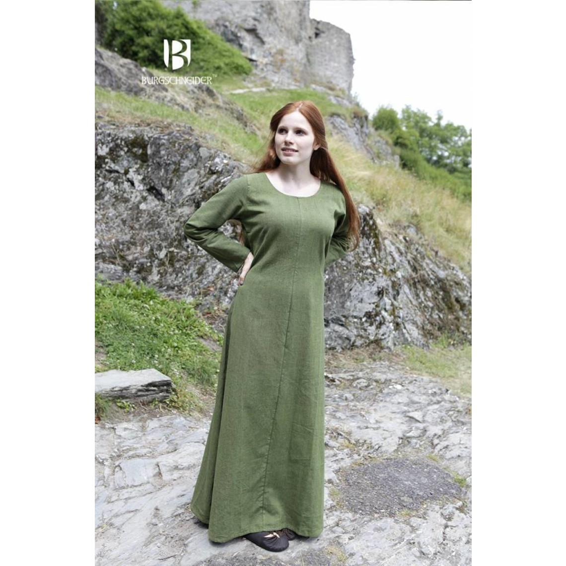 Burgschneider Robe médiévale Freya, vert
