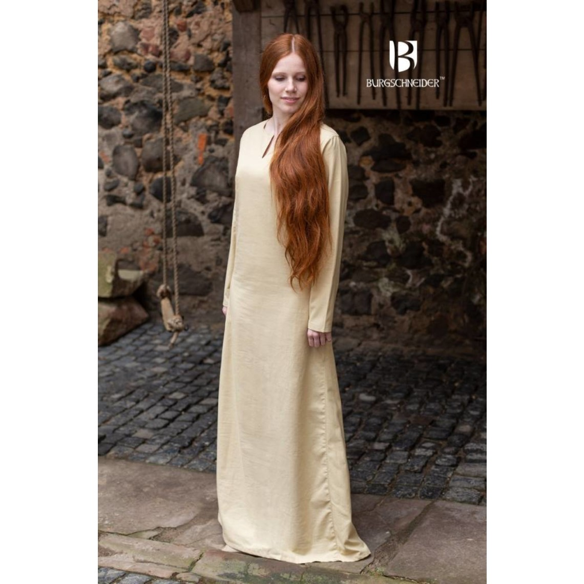 Burgschneider Middeleeuwse jurk Elisa, naturel