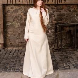 Medeltida klänning Elisa, vit