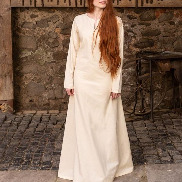 Burgschneider Medieval dress Elisa, white