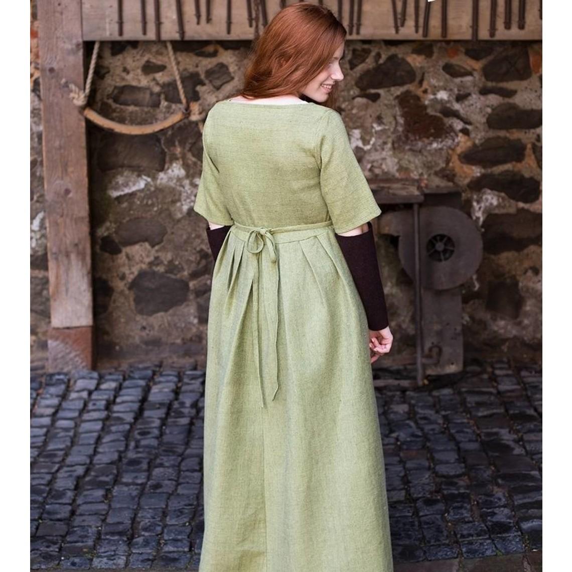 Burgschneider Vestido medieval Frideswinde verde