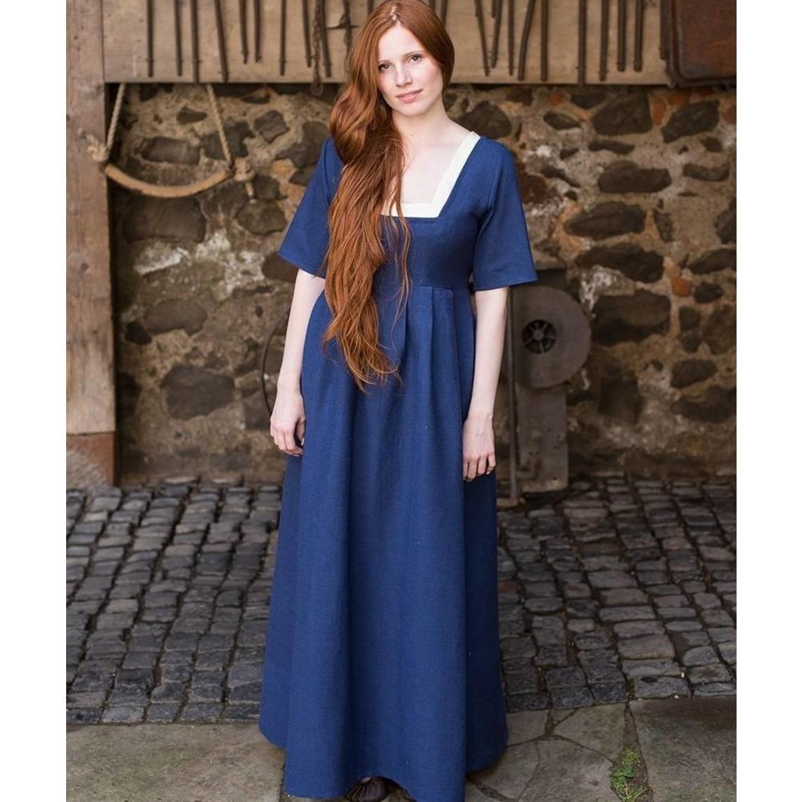 Burgschneider Robe médiévale Frideswinde bleu
