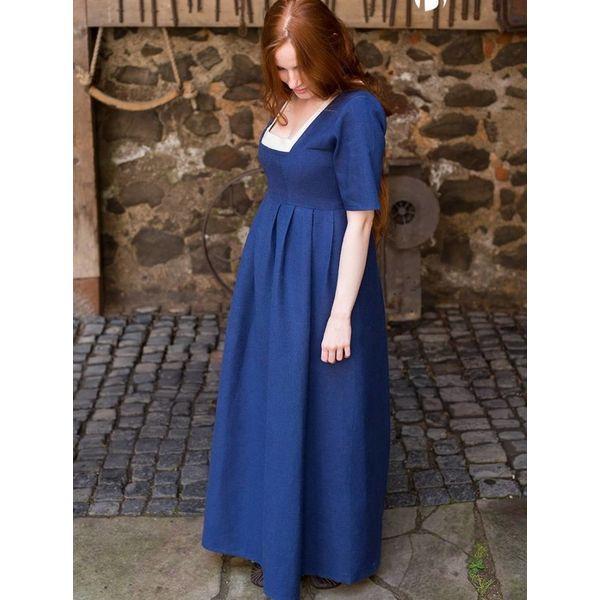 Burgschneider Medeltida klänning Frideswinde blå