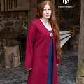 Burgschneider Manteau Birka Aslaug laine, rouge