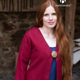 Mantello di Birka Aslaug in lana, rosso