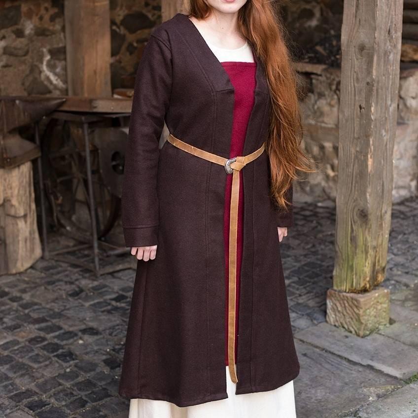 Mantello di Birka Aslaug in lana, marrone