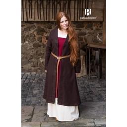 Birka mantel Aslaug ull, brun