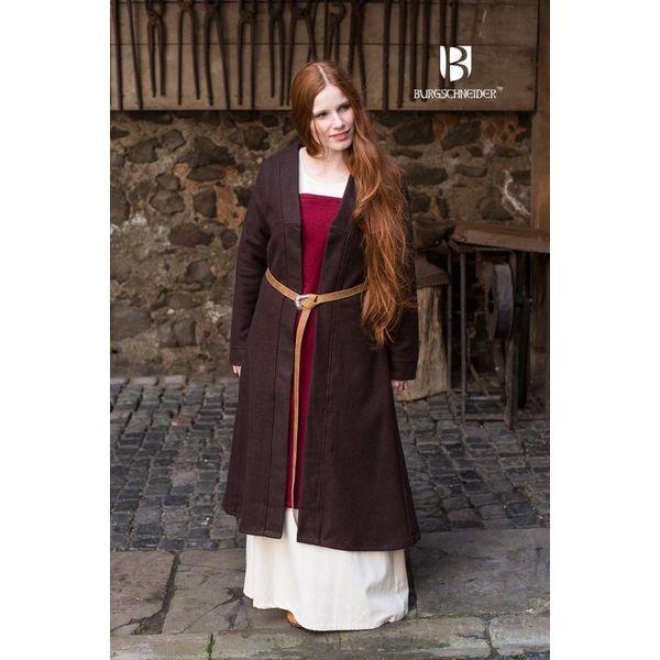 Burgschneider Birka płaszcz Aslaug wełna, brązowy