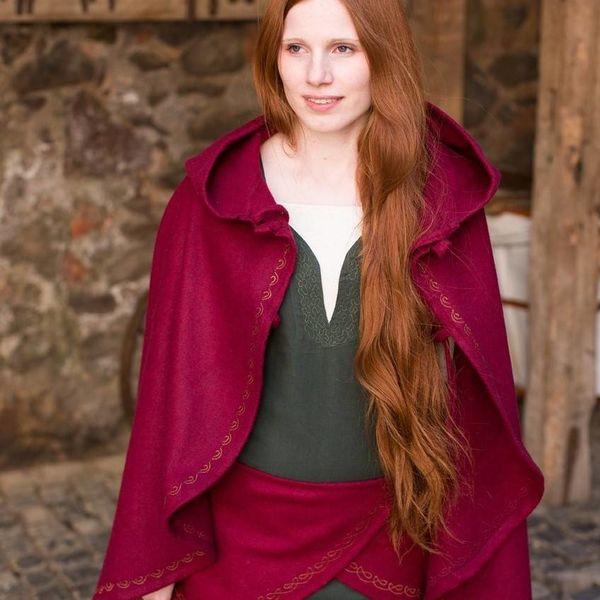 Burgschneider Cape Affra uld, rød