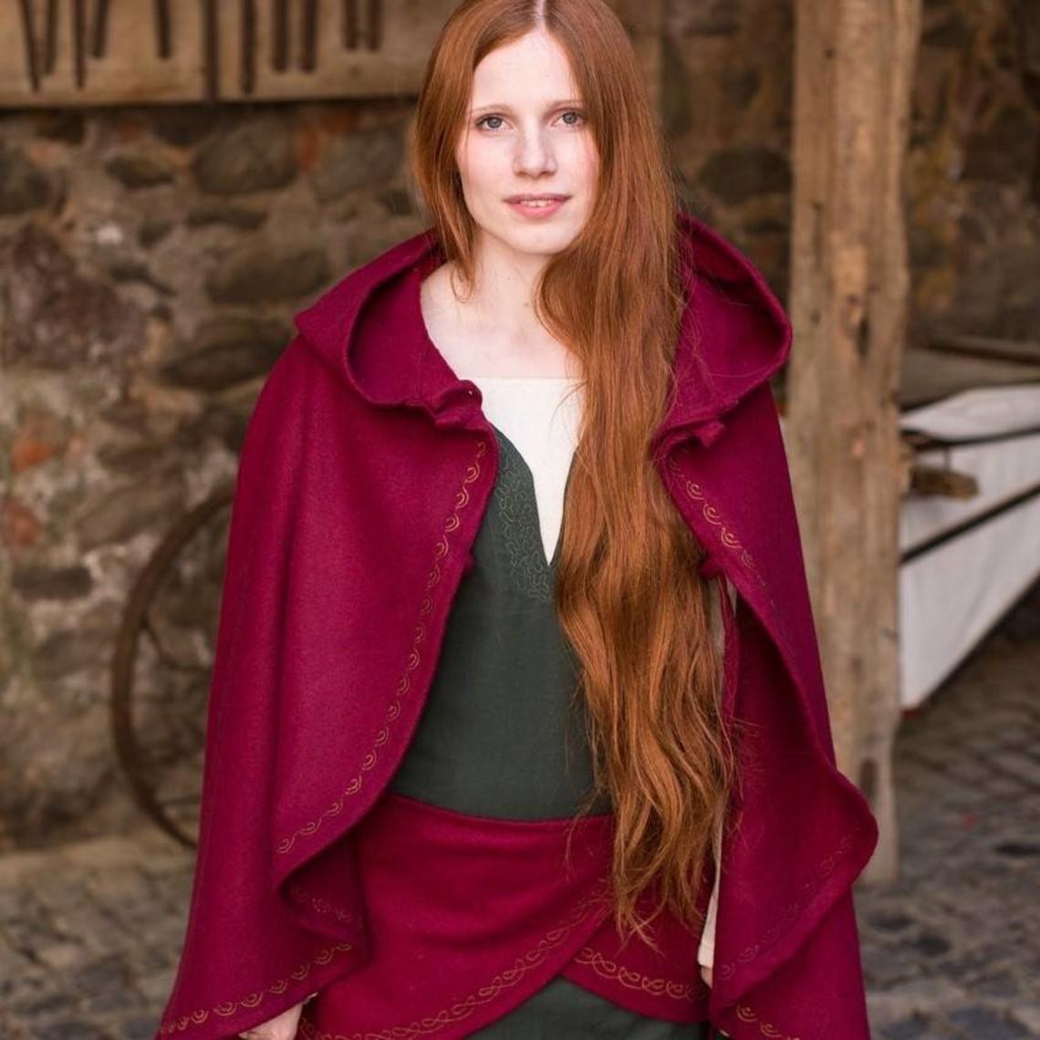 Burgschneider Cape Affra wol, rood
