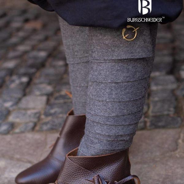 Burgschneider Leg wrappings Aki, dark grey