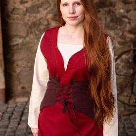 Burgschneider Cotton corset Thana, brown