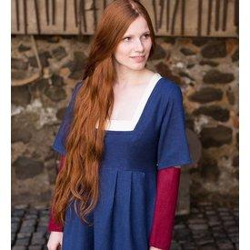 Burgschneider Mangas vestido medieval Frideswinde vermelho