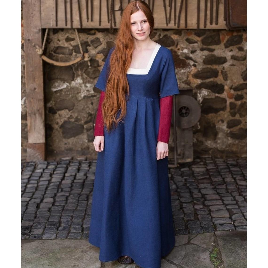 Burgschneider Mangas Vestido medieval Frideswinde rojo