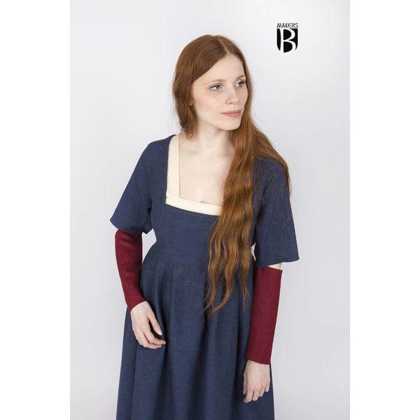 Burgschneider Sleeves Medieval dress Frideswinde red