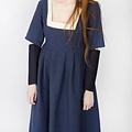 Burgschneider Mangas Vestido medieval Frideswinde azul