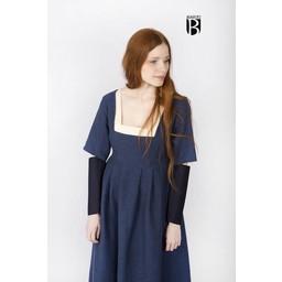 Rękawy średniowiecznej sukni Frideswinde niebieski