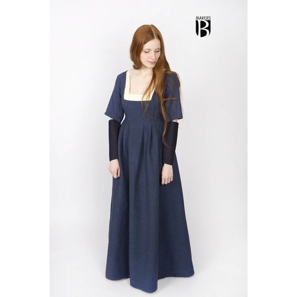 Burgschneider Ærmer Medieval kjole Frideswinde blå