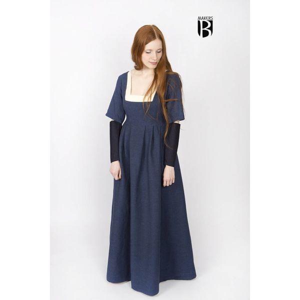 Burgschneider Ærmer Middelalderlige kjole Frideswinde blå