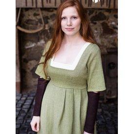 Burgschneider Mangas vestido medievais Frideswinde castanho