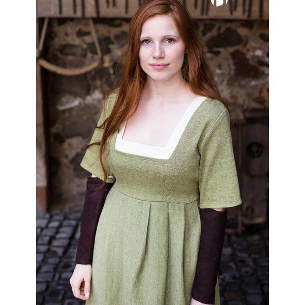 Burgschneider Mouwen Middeleeuwse jurk Frideswinde bruin